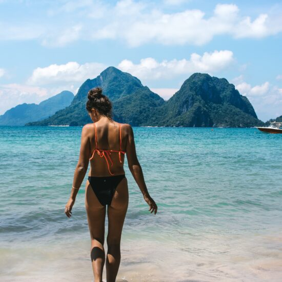 Woman in a bathing suit