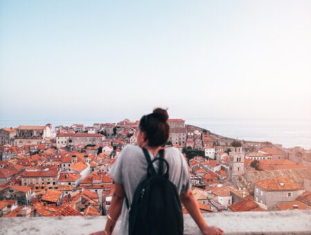 Girl studying abroad