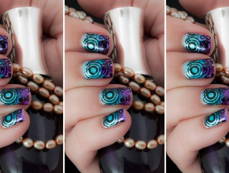 Konad nail stamping