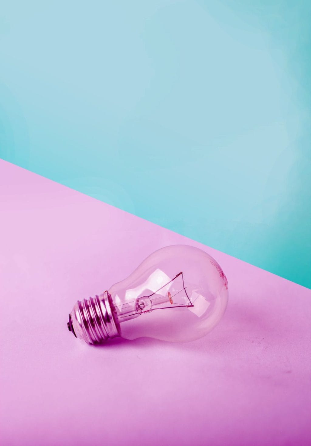 lightbulb on a pink background