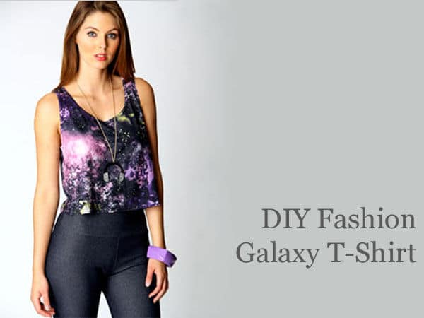 DIY Galaxy tee shirt