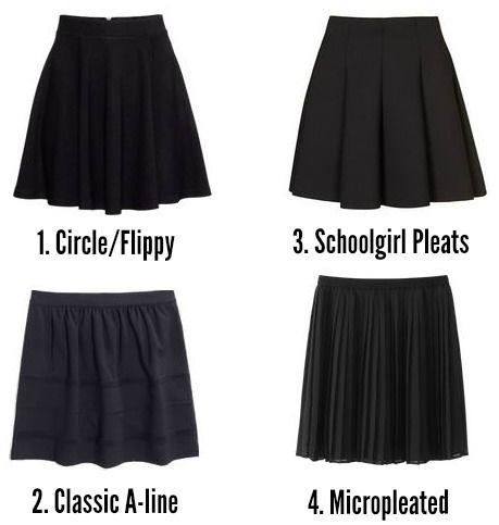 Cute black skater skirts