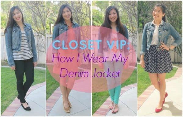 closet vip how i wear my denim jacket