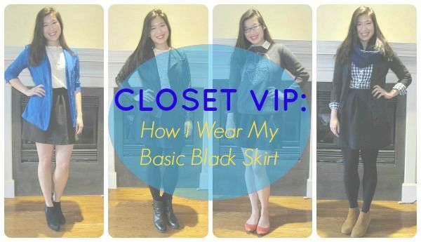 Closet VIP; how to style a skater skirt