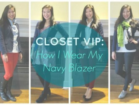 How I wear my navy blazer