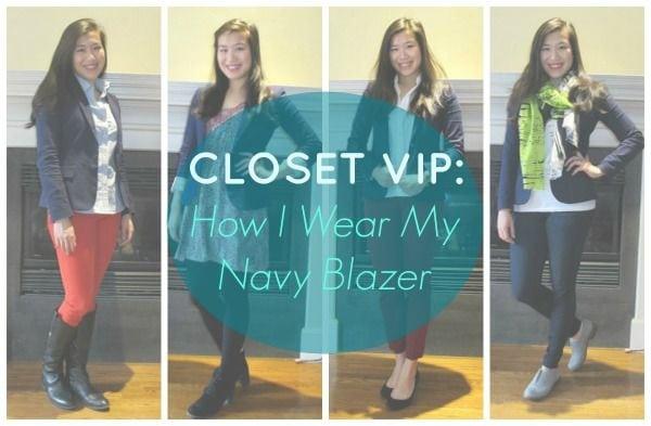 How I wear my navy blazer