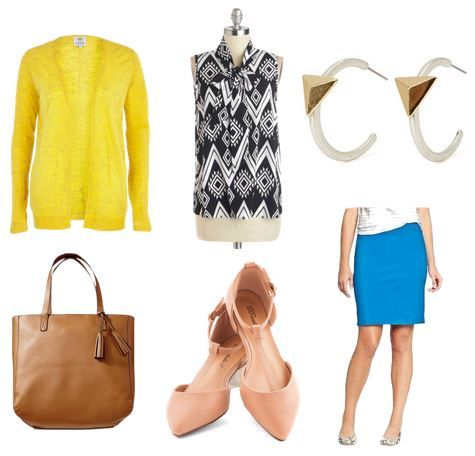 Bold and bright business casual outfit
