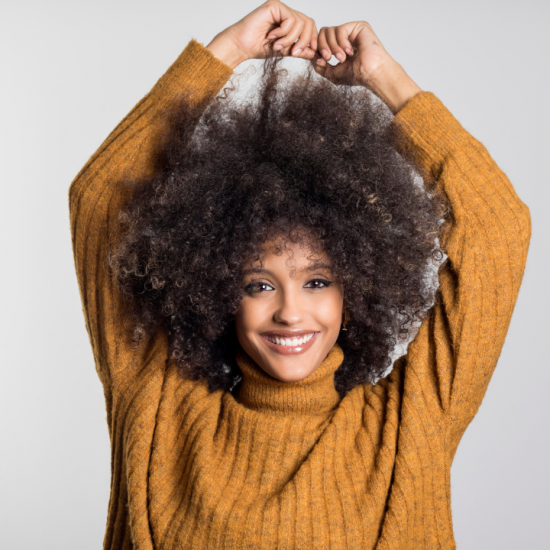 Woman with an afro