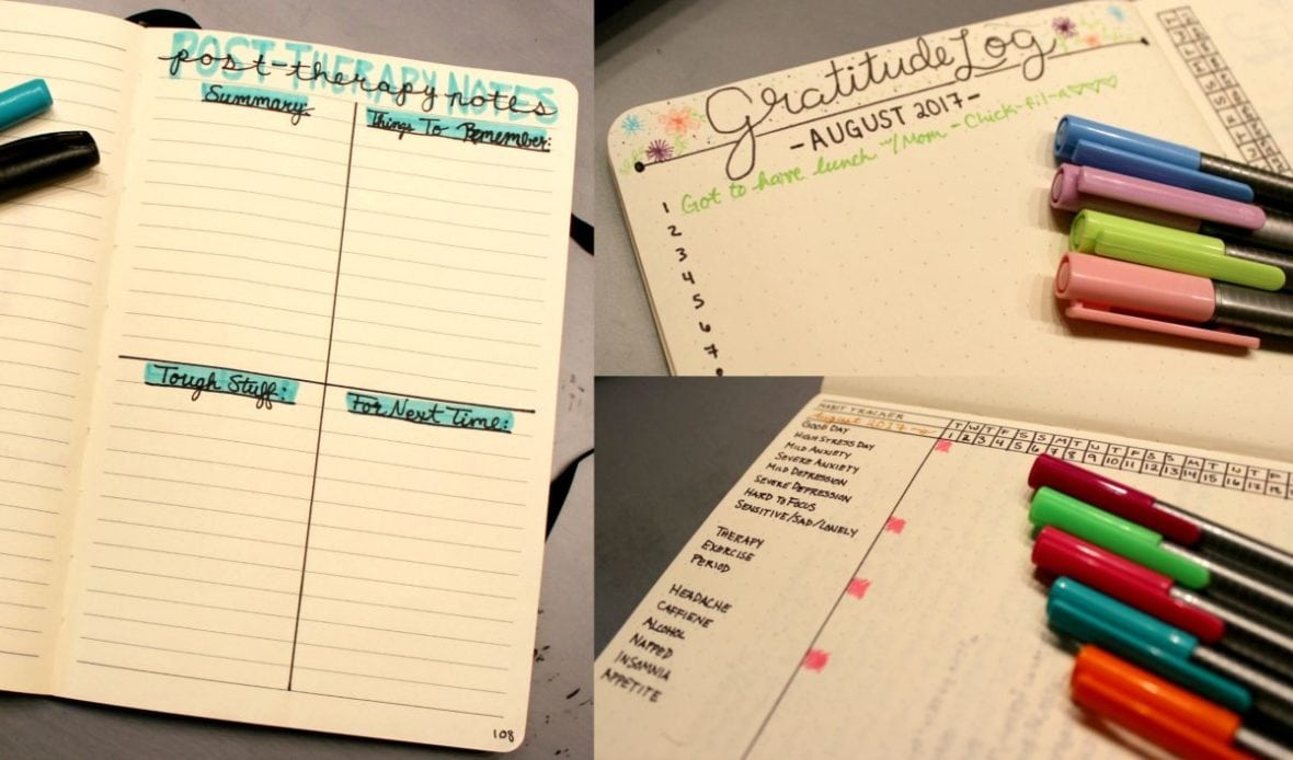 Mental health tracking my bullet journal