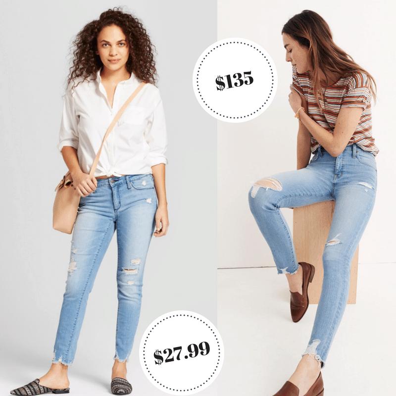 Target Universal Thread jeans vs Madewell denim