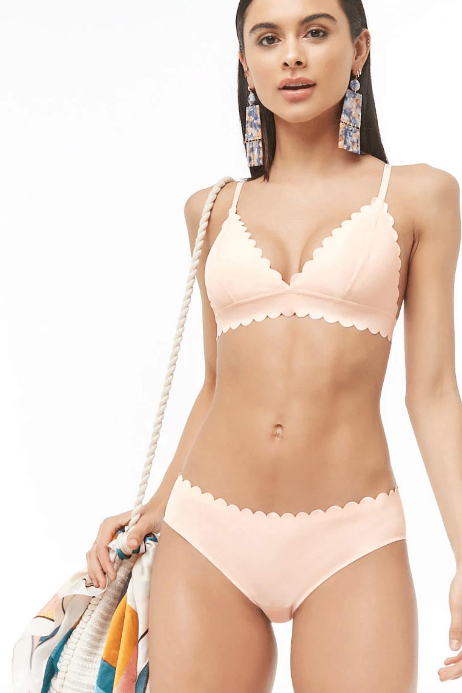 Forever 21 scalloped bikini