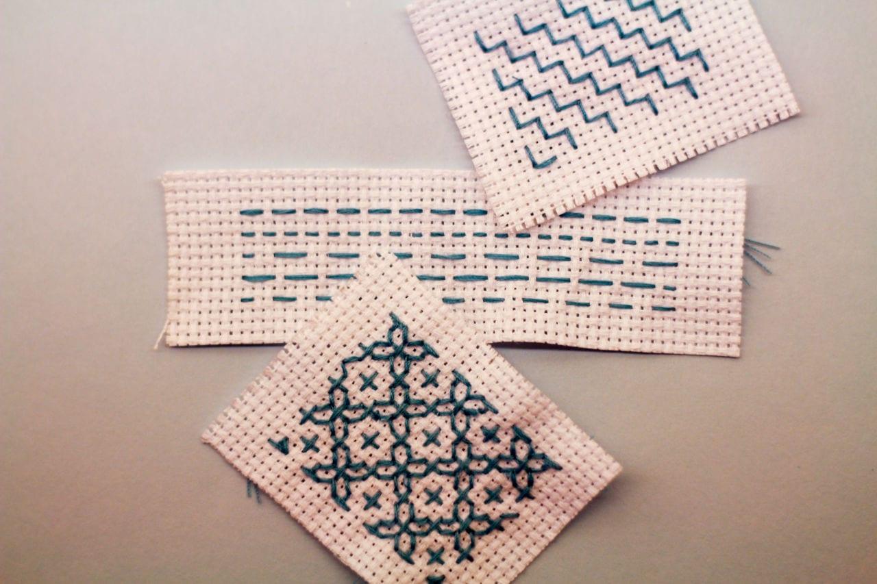 Sashiko embroidery tutorial finished product
