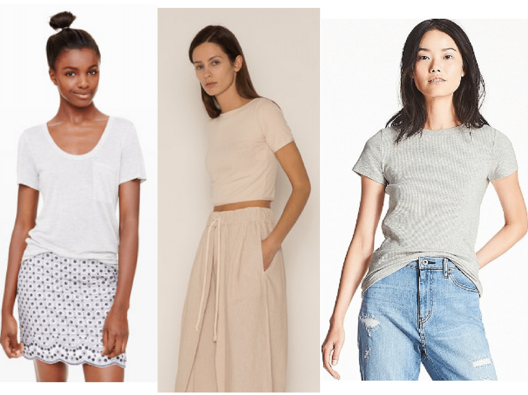 Best places to buy basics: Basic t shirts from club monaco, gap and more