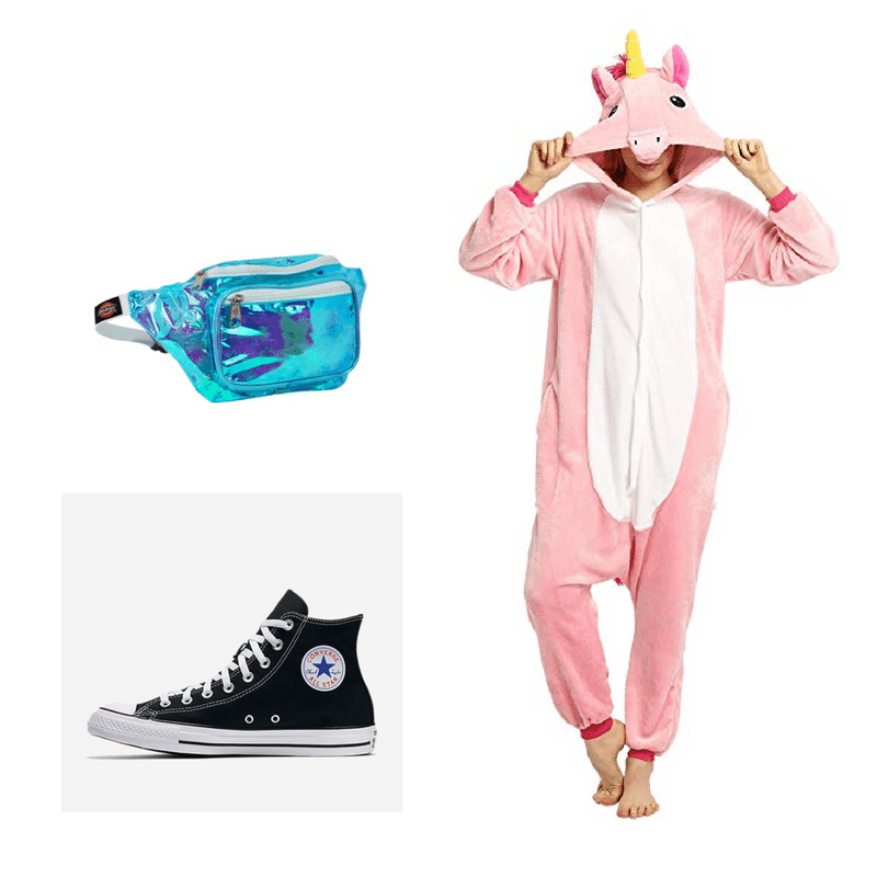 Funny frat party outfit idea - unicorn onesie