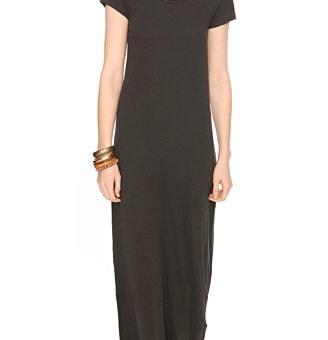 Forever 21 Short Sleeved Maxi Dress in black