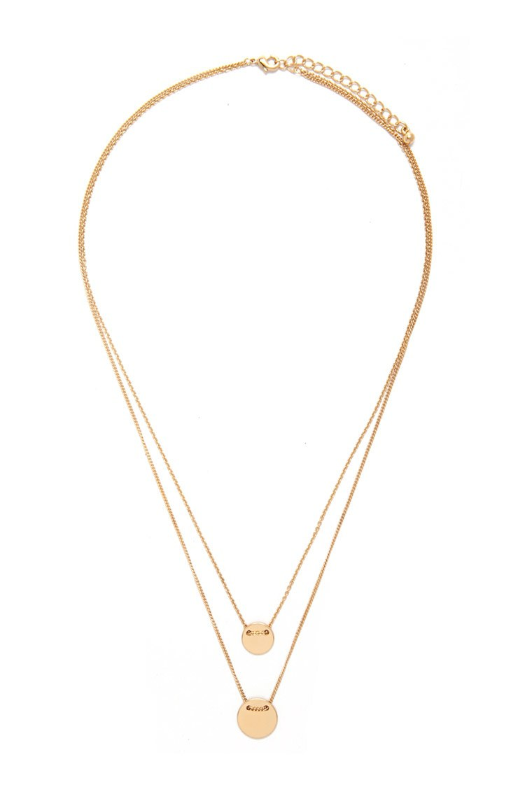 Forever 21 Layered Disk Necklace