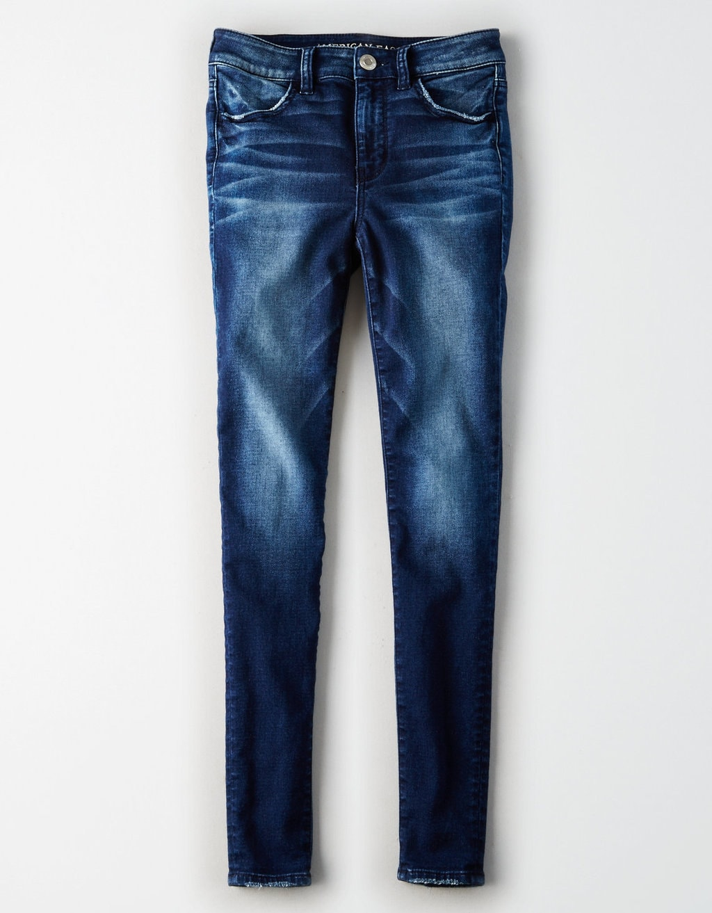 A pair of mid-wash jeans
