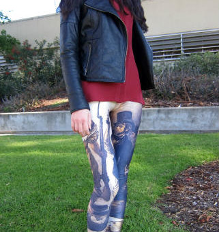 French Revolution leggings and Jeffrey Campbell spiked boots