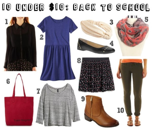 10 Under $10 Back to School Shopping