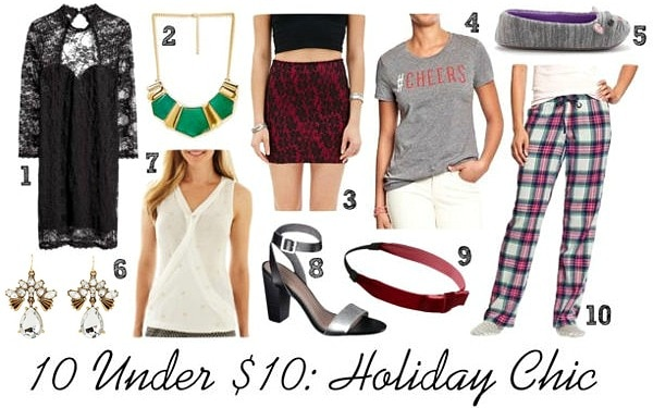 10 under 10 holiday items
