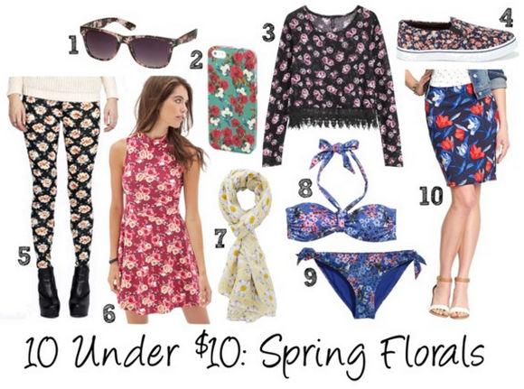 10 under 10 spring florals