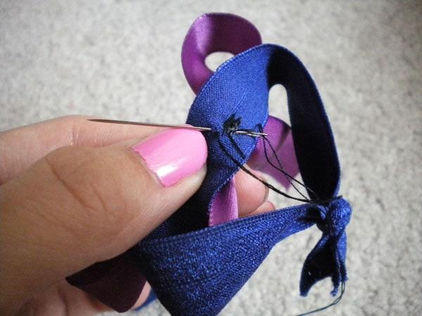 DIY knotted hair ties: Step 5