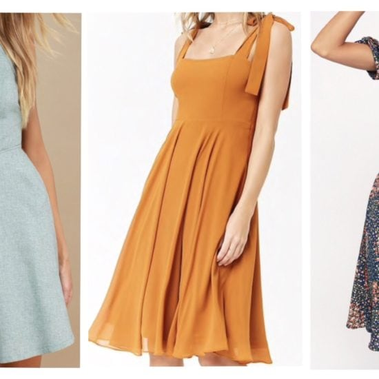 Five dresses for wedding guests; midi dress; dresses
