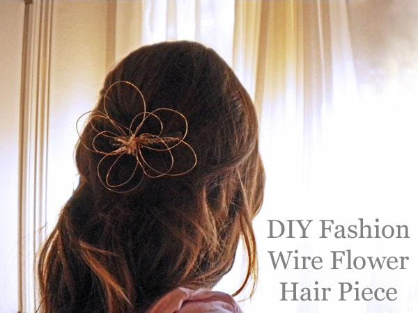 DIY fashion: Wire flower hair piece