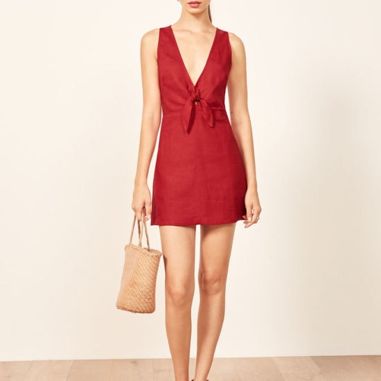 Reformation Cherry Red Cote Dress