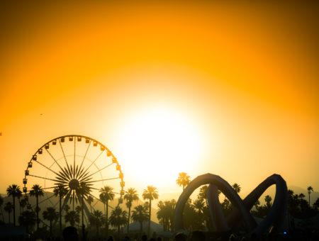 Coachella, Indio, sunset, music festival