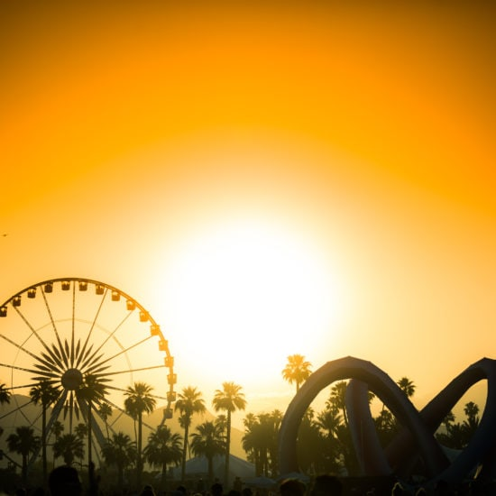 Coachella, Indio, sunset, music festival