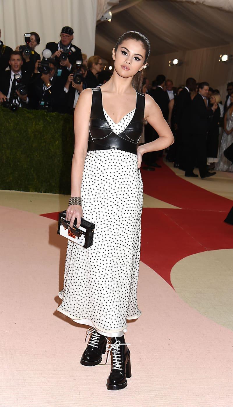 Selena Gomez in Louis Vuitton at the 2016 Met Gala