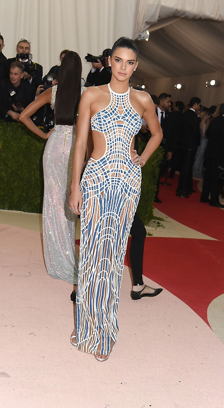 Kendall Jenner in Versace at the 2016 Met Gala