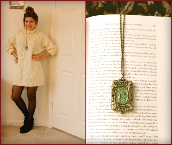 Huge-Cream-Turtleneck-Sweater-Tights-Long-Green-Gold-Necklace