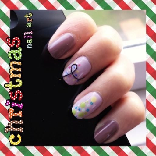 christmas light nail art