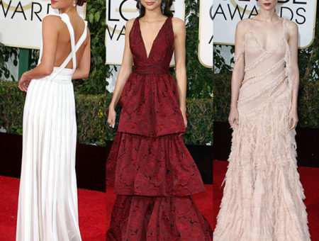2016 golden globes fashion - Alicia Vikander, Zendaya, and Rooney Mara