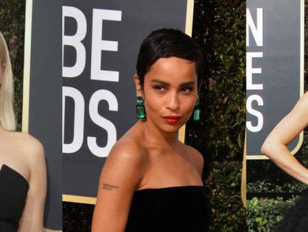 2018 red carpet beauty: Emilia Clarke, Zoe Kravitz, and Kendall Jenner at the 2018 Golden Globe Awards