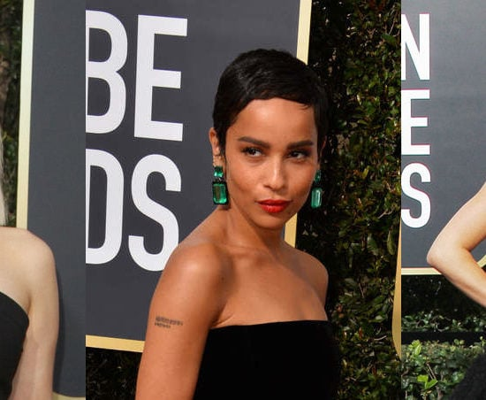 2018 red carpet beauty: Emilia Clarke, Zoe Kravitz, and Kendall Jenner at the 2018 Golden Globe Awards