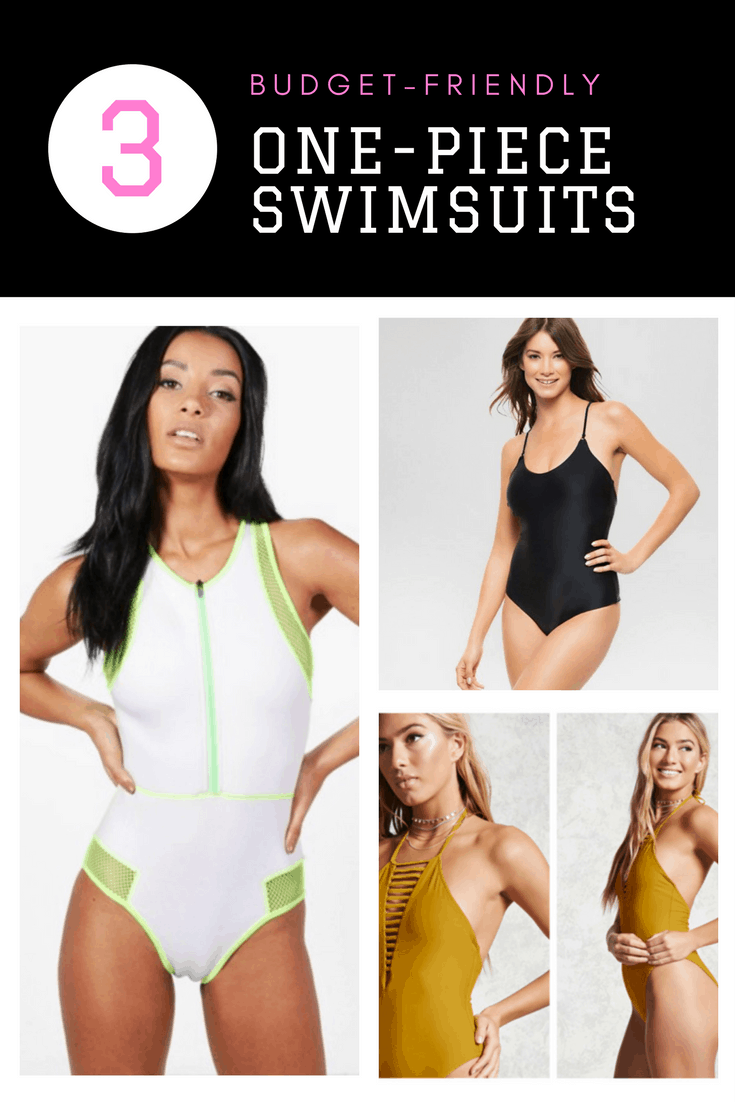 3 budget-friendly one piece bathing suits