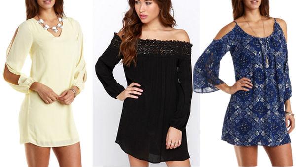 3 cold shoulder dresses