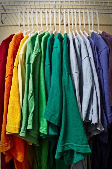 color organized closet