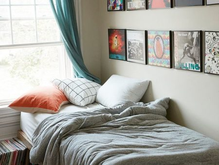 Urban Outfitters Bed Album Wall