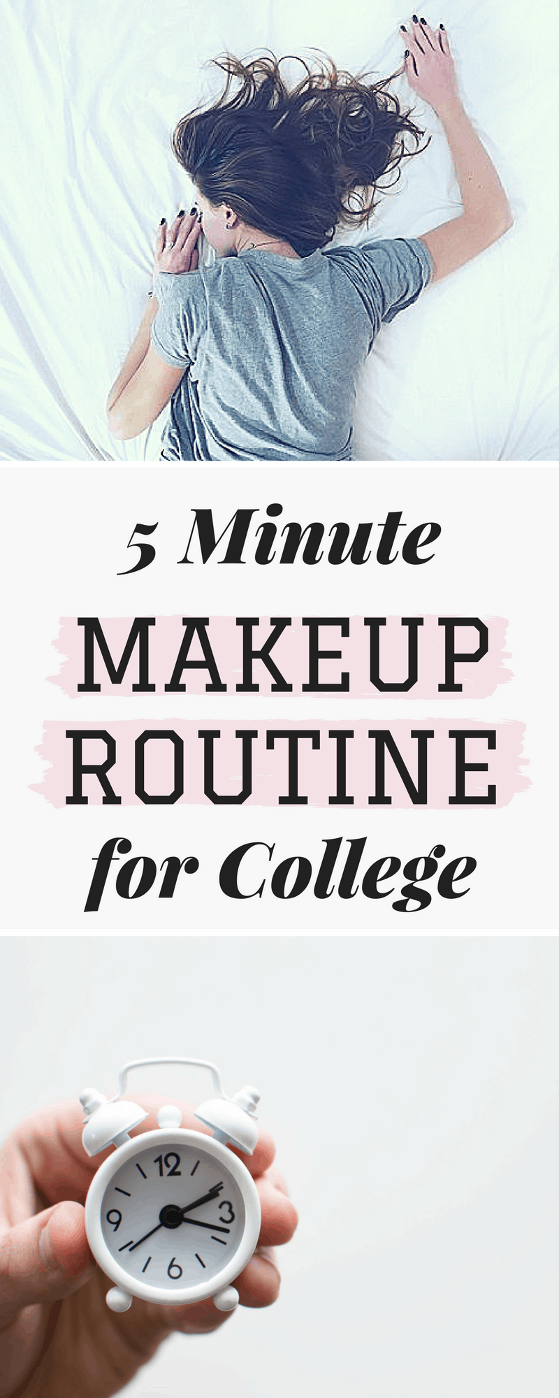 5 minute makeup for college - my ultimate routine
