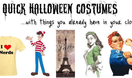 5 Quick Halloween Costume Ideas made with things you already have in your closet
