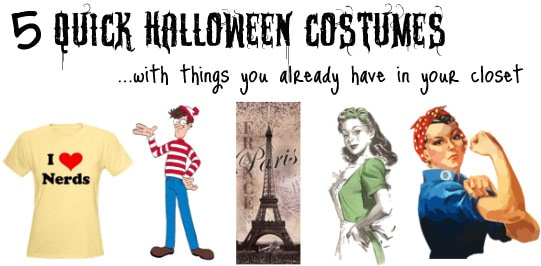 Halloween Costume Quick.5 Quick Halloween Costumes Made With Things You Already Have In Your