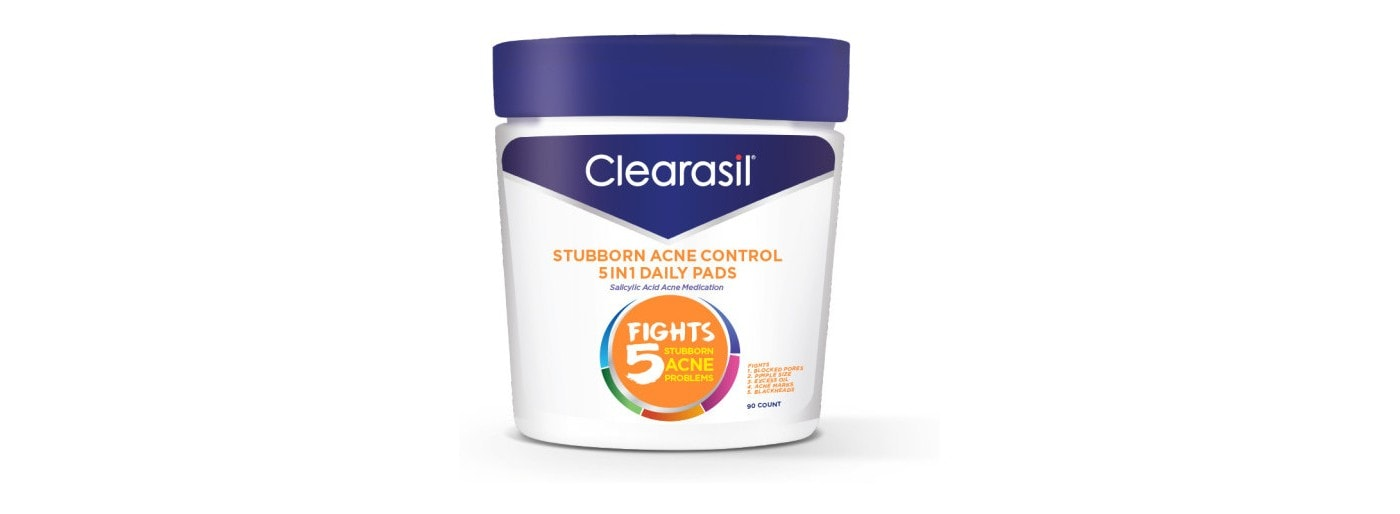 Clearasil Stubborn Acne Control Salicylic Acid Pads