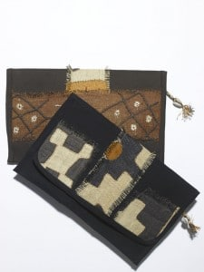 Clutches are made by Tanzanian women for Rachel by Rachel Roy through Fair Winds Trade