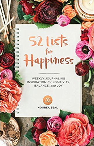 Best guided journals: 52 Lists for Happiness by Moorea Seal