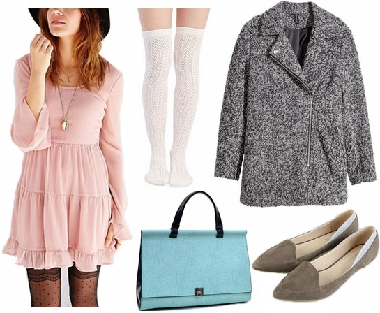 60s inspired babydoll dress look