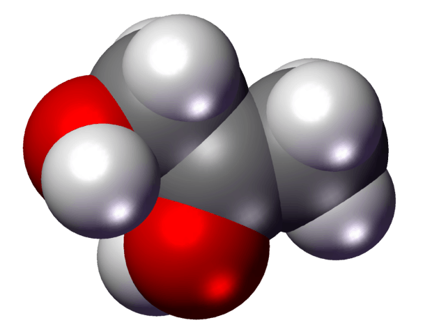 Propylene Glycol Spacefill Model